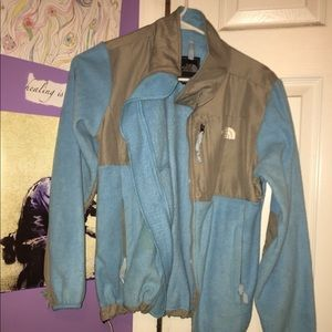 used blue north face jacket